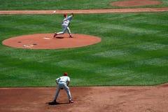 тангаж бейсбола Стоковое Изображение RF