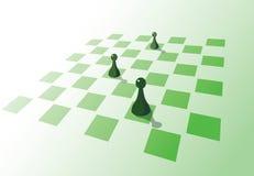 пешки шахмат доски Стоковые Изображения RF