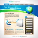 企业解决方法模板网站 免版税图库摄影