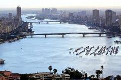 река Каира Нила Стоковые Фото