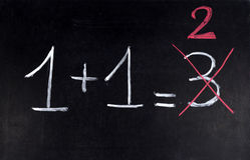 математика ошибки Стоковые Фотографии RF