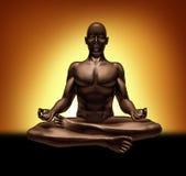 思考的凝思放松灵性瑜伽 免版税库存图片