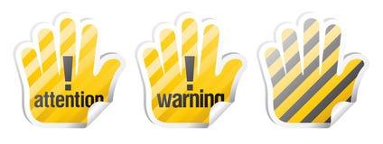 符号向量警告 库存图片