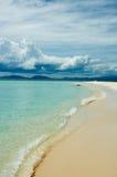 пристаньте тропическое к берегу Стоковые Изображения