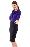 企业欢迎妇女 免版税库存图片