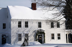 колониальный дом Стоковая Фотография