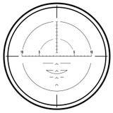 光学步枪视域狙击手 免版税图库摄影