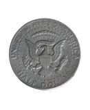 半硬币的美元我们 免版税库存图片