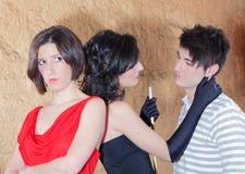 三个年轻人 图库摄影