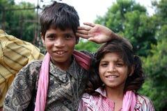 儿童逗人喜爱的印地安人 免版税图库摄影