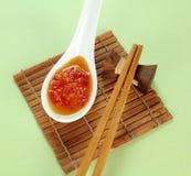 辣味番茄酱甜点 免版税库存照片