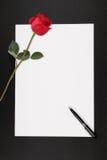 σημείωση αγάπης Στοκ εικόνα με δικαίωμα ελεύθερης χρήσης