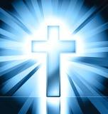 крест католика предпосылки Стоковое Фото