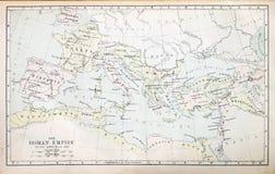 罗马帝国的映射 免版税库存图片