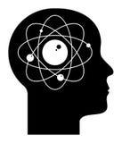 原子人脑 库存图片