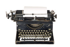 背景打字机葡萄酒白色 免版税库存照片
