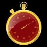 金子红色秒表 免版税库存照片