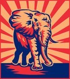слон африканского быка поручая Стоковые Изображения