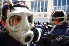 警察暴乱土耳其 免版税库存照片