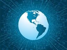 概念技术世界 免版税库存图片