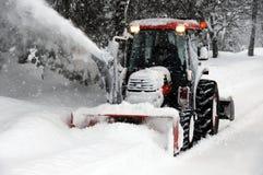 吹风机雪 免版税图库摄影