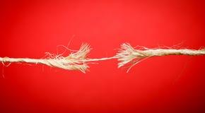 σπάζοντας σχοινί Στοκ Φωτογραφία