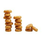 可口糖果的焦糖 免版税库存照片