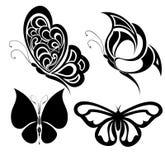 蝴蝶被设置的纹身花刺 免版税图库摄影