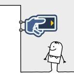 银行消费者界面符号 免版税库存照片