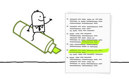 绿色标记下划线 免版税图库摄影