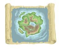 карта старая Стоковые Фотографии RF