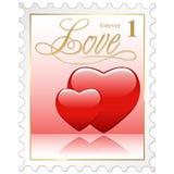 γραμματόσημο αγάπης Στοκ Φωτογραφίες