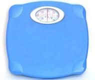 卫生间蓝色缩放比例甜点重量 库存照片