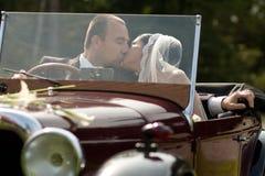 耦合纵向婚礼 图库摄影
