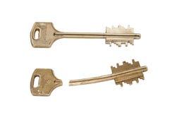 сломленный ключ Стоковая Фотография