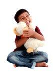男孩逗人喜爱的印地安人 免版税库存照片