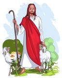 好耶稣牧羊人 库存照片