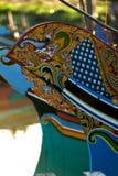 деревянное шлюпок цветастое Стоковая Фотография RF