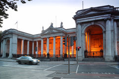 银行房子爱尔兰老议会 免版税库存图片