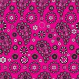 背景佩兹利模式粉红色窗框 免版税库存图片