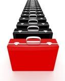 公文包红色唯一 免版税图库摄影