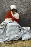 可怜的哀伤的妇女 库存图片