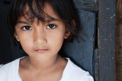 亚洲女孩纵向 免版税库存图片