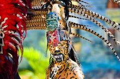 古老玛雅战士 免版税库存图片