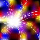 抽象背景展开发光的向量通知 库存图片
