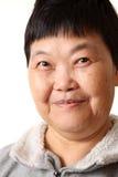 高级微笑的妇女 免版税库存图片