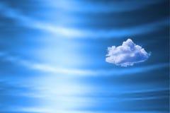 蓝色云彩天空 免版税图库摄影