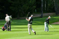 неисвестне группы игрока в гольф Стоковые Изображения RF