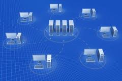 сервер соединения к сети Стоковое Изображение