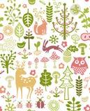 森林模式 免版税库存照片
